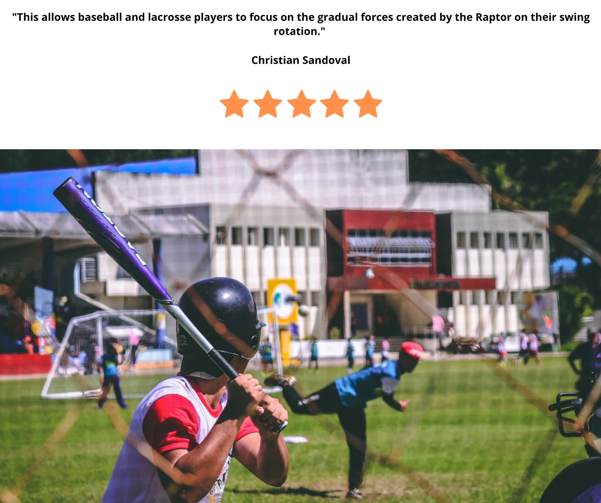 Testimonial - baseball batting training with young athletes -214kb