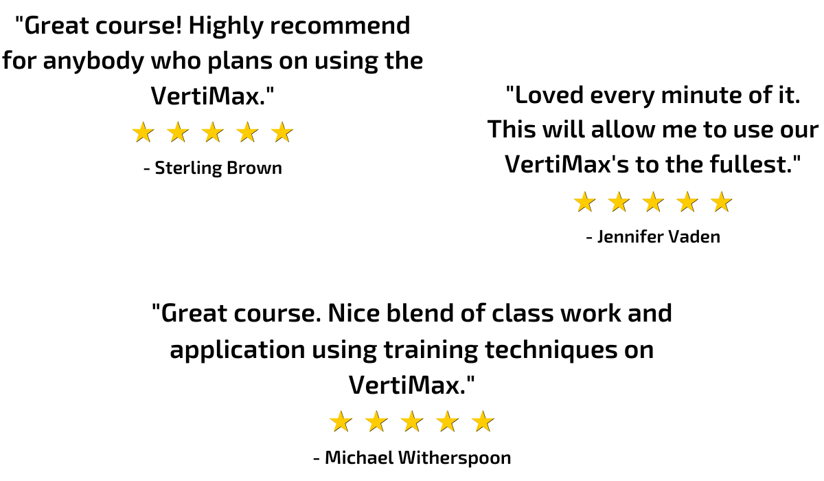 VertiMax education and certification reviews and testimonials