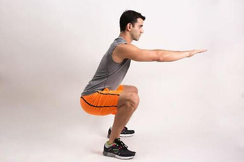 Isometric Exercise Low Squat