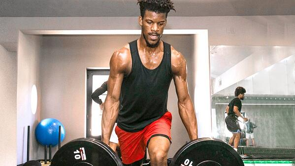 NBA-Bastketball-Player-Jimmy-Butler-Working-with VertiMax in the background