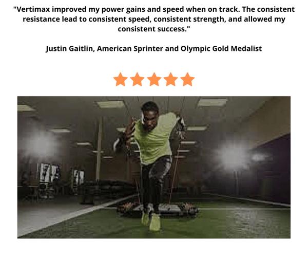 Justin Gatlin on VertiMax V8 testimonial