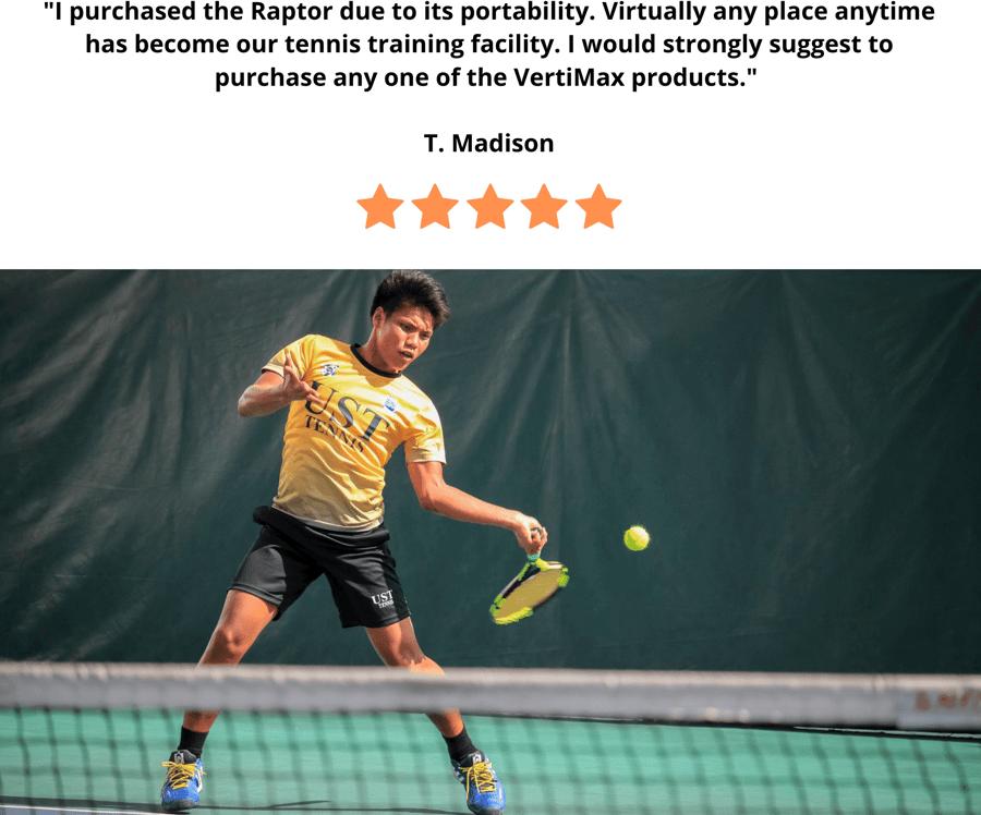 Tennis portable training on VertiMax Raptor