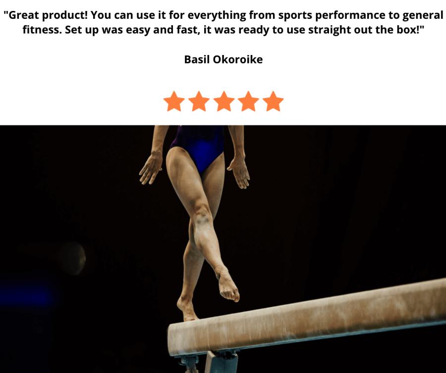 gymnastics training on bar