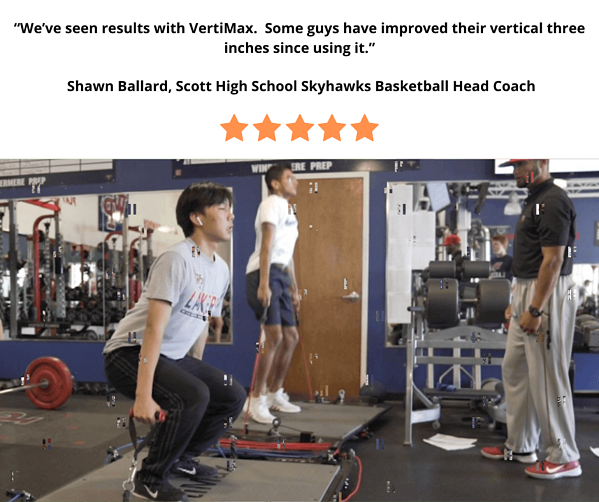 high school coach 3 inch jump increase - training on 2 vertimax platforms