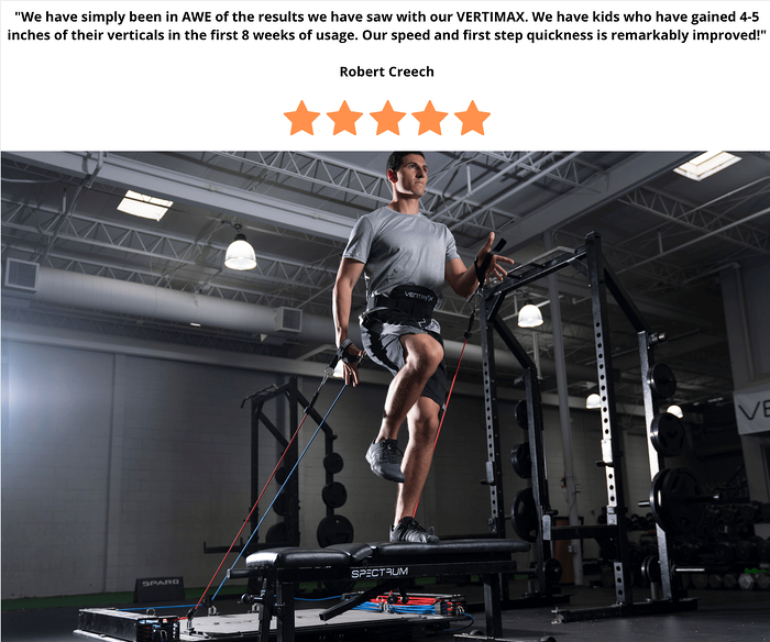 vertimax v8 - gain vertical jump 4-5 inches
