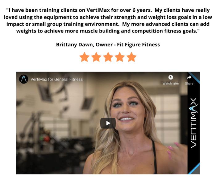 Vertimax fitness training-Brittany Dawn