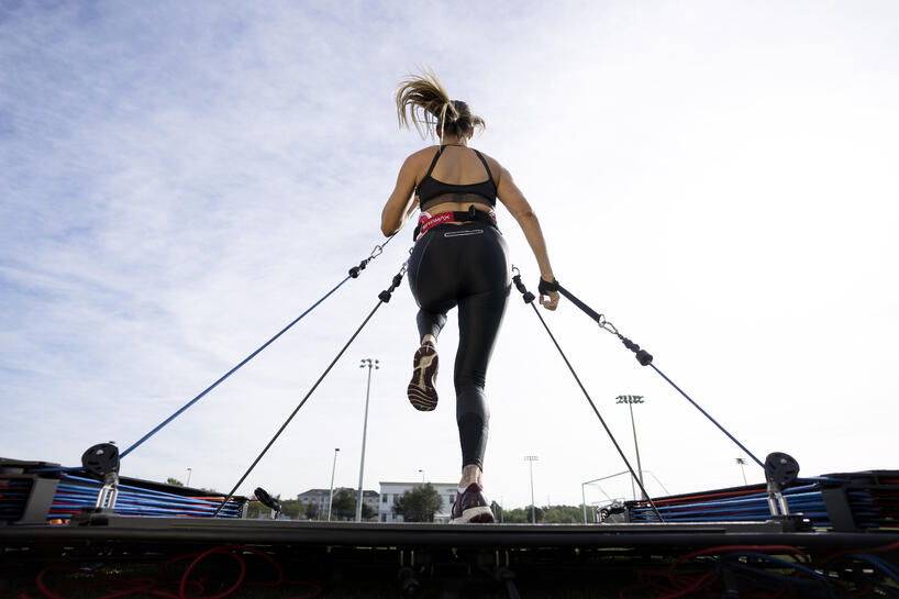 Female Athletes Use VertiMax To Train