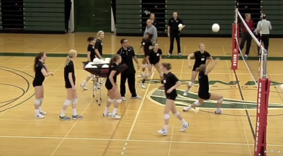 passing out of the net volleyball drill-