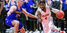 Clark University cougar basketball program training with vertimax