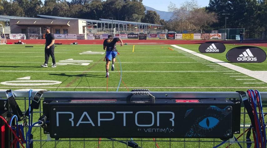 raptor work on grass field